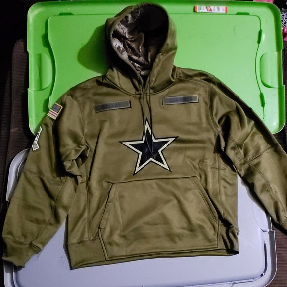 buy online 56eef 08477 Dallas Cowboys Nike NFL Salute to Service hoodie NWT